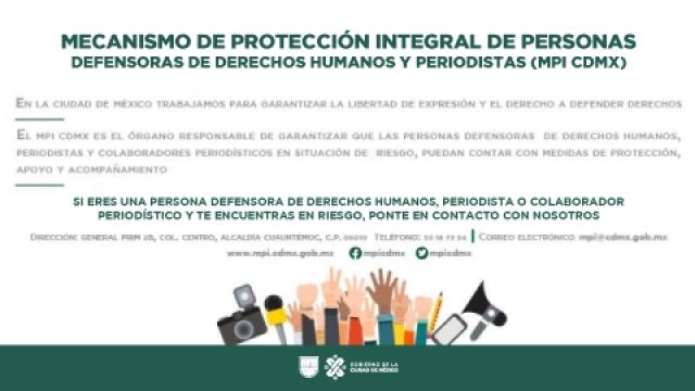 Mecanismo de Protección Integral de Personas Defensoras de Derechos Humanos y Periodistas